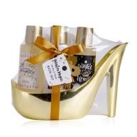 Set cadou Carciun pentru baie, pantof cu toc Elegant