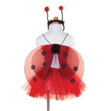 Costum buburuza - fusta, aripi si diadema