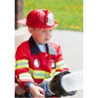 Costum pompier - haina, casca, insigna si geanta cu accesorii