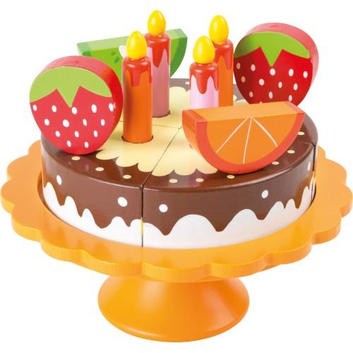 Tort Cu Fructe Jucarie Din Lemn