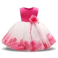 Rochie de ocazie petale de trandafir pentru fetite