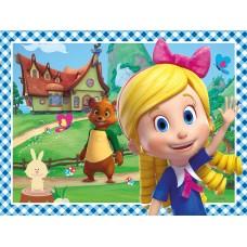 Set de 4 puzzle-uri Disney Goldie si Ursulet (12, 16, 20, 24 piese)