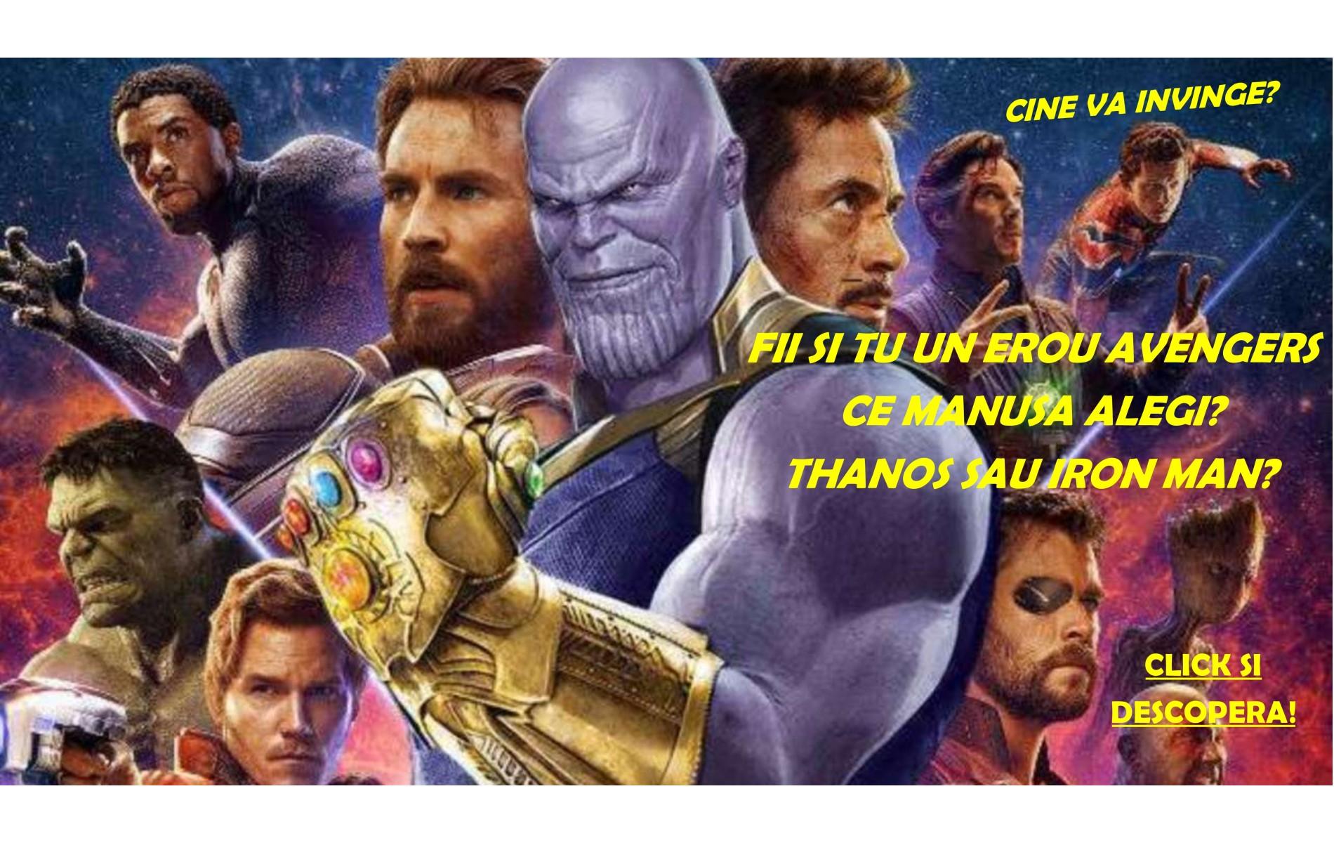 Reclama manusi Avengers
