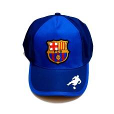 Sapca FC Barcelona pentru copii, albastru - bleumarin