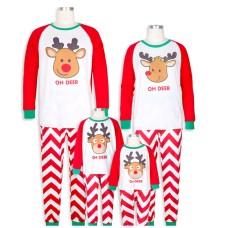 Pijama de Craciun Family, asortata copii - parinti, imprimeu ren Oh Deer
