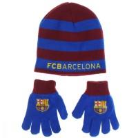 Set caciula si manusi imprimeu FC Barcelona