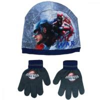 Set caciula si manusi Captain America