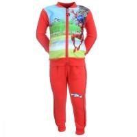 Costum sport, trening cu imprimeu Ladybug Miraculous, Buburuza si Motan Noir