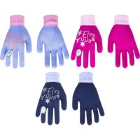 Manusi de iarna pentru fete, Elsa Frozen, 4 - 7 ani, roz fucshia, bleu, bleumarin