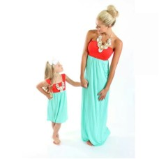 Rochie de plaja mix and match, modele asortate mama - fiica
