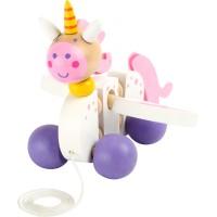 Unicorn din lemn - jucarie de tras