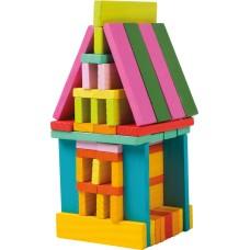Set de constructie colorat - 75 piese